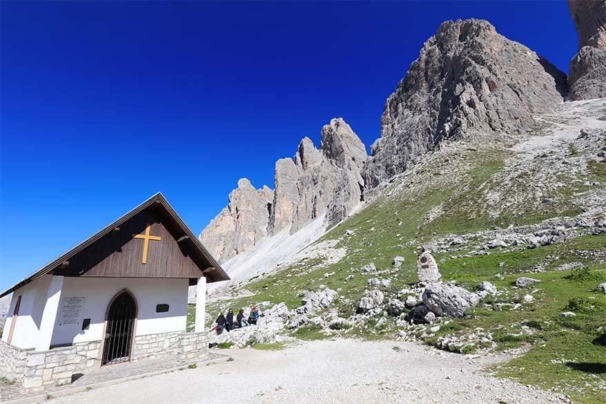 Cappella degli Alpini at Tre Cime di Lavaredo