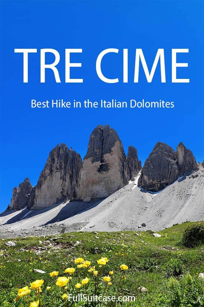 Complete guide for hiking Tre Cime di Lavaredo loop in the Dolomites Italy