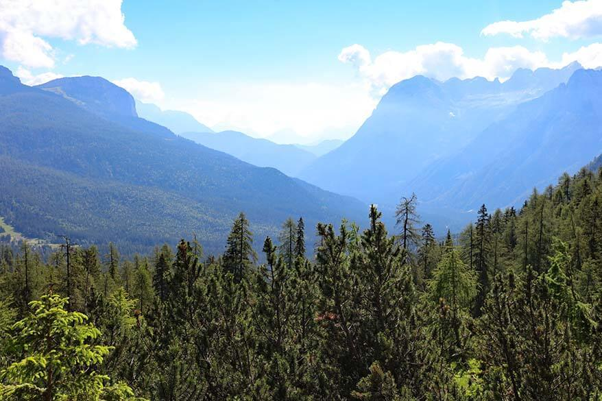 Dolomites scenery seen on Lake Sorapis hike
