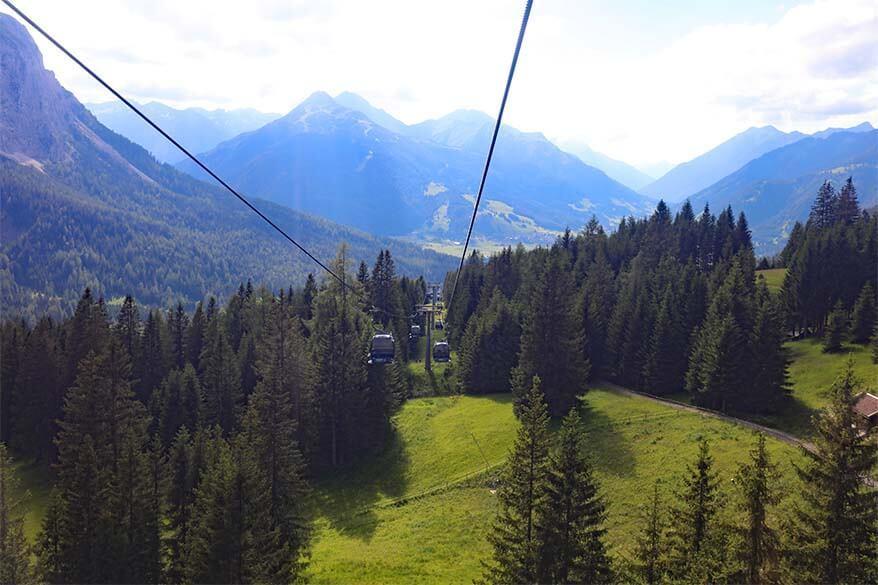Ehrwalder Almbahn cable car