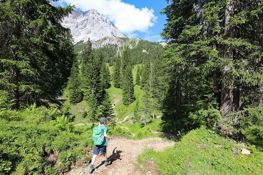 Hiking Koatiger Weg in Ehrwald