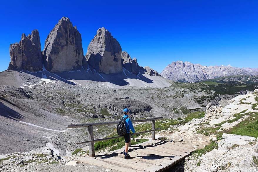 Hiking Tre Cime di Lavaredo in Italian Dolomites