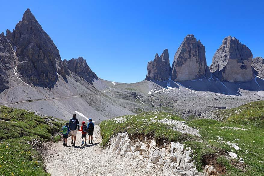 Hiking Tre Cime loop in the Dolomites, Italy