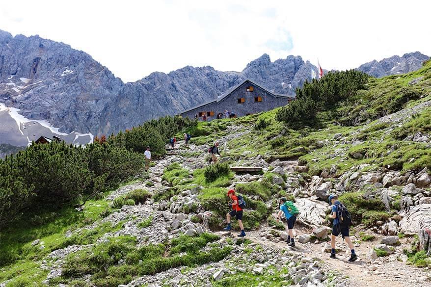 Hiking to Coburger Hut