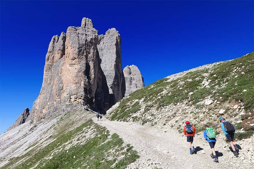 Hiking to Forcella Lavaredo from Rifugio Lavaredo