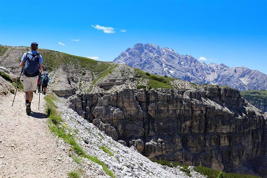 Hiking to Forcella del Col di Mezzo