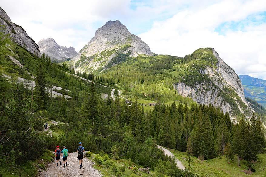 Hiking to Seebensee in Ehrwald Tyrol