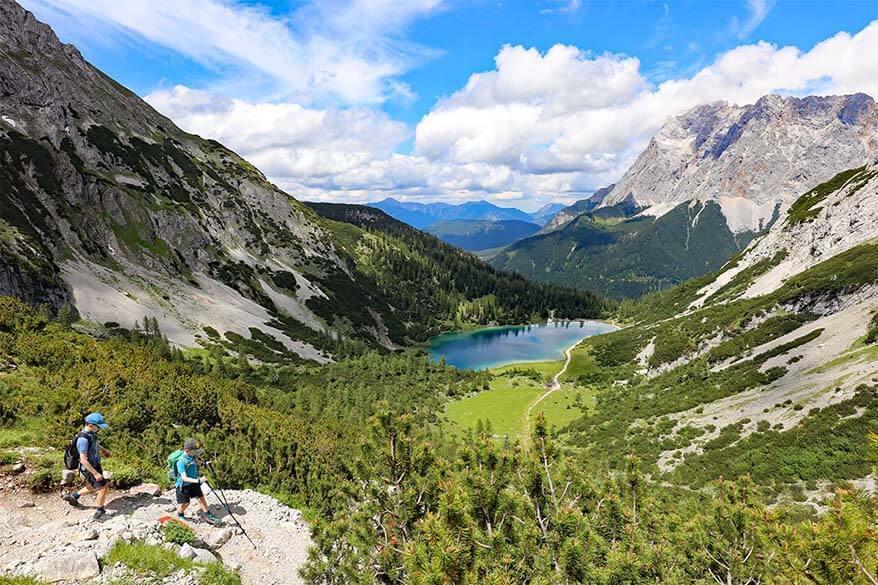 Hiking to Seebensee lake - the best hike in Tyrol Austria