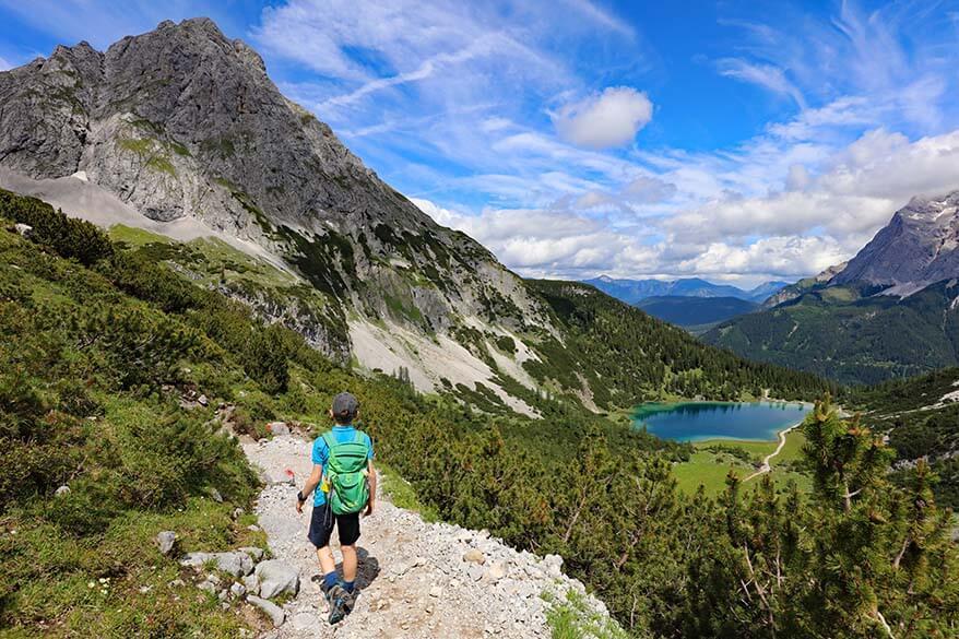 Hiking to Seebensee