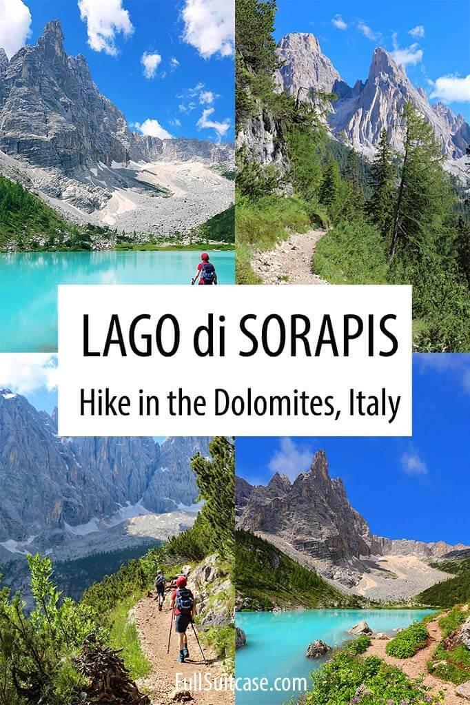 Lago di Sorapis hike in the Dolomites Italy
