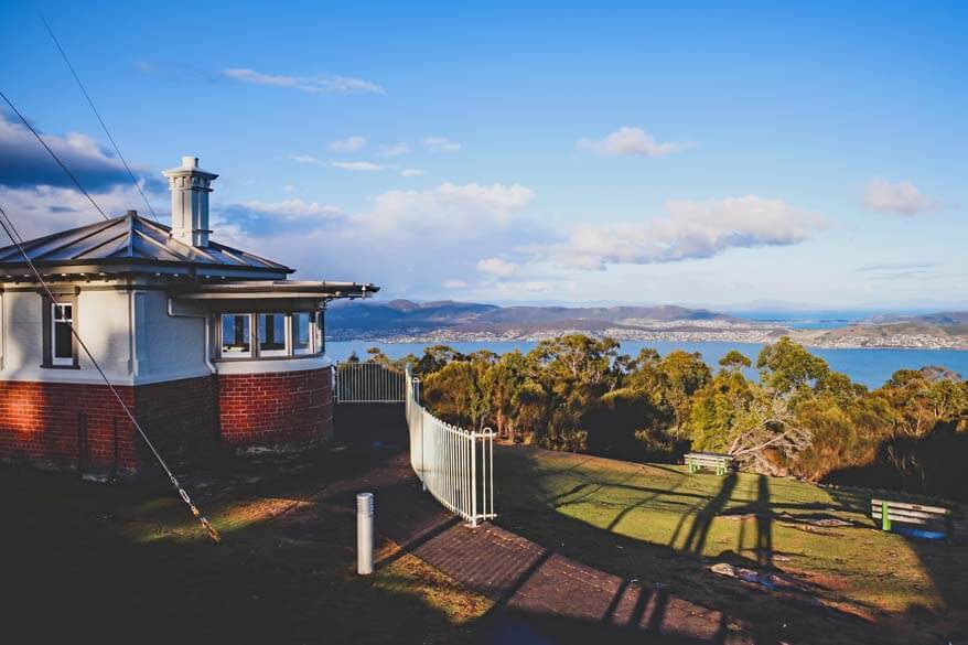 Mount Nelson Signal Station and view over Hobart