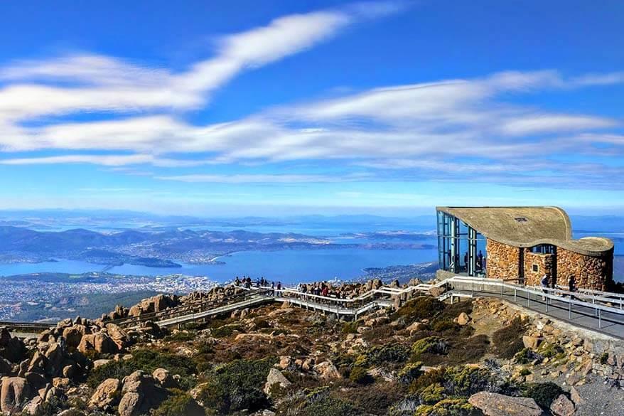 Mount Wellington lookout in Hobart, Tasmania