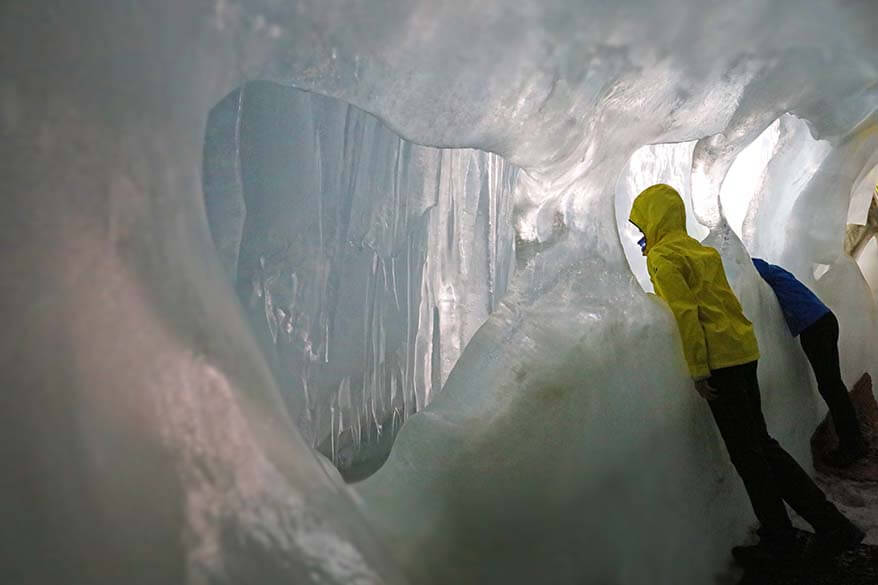 Nature's Ice Palace at Hintertux Glacier in Zillertal, Austria