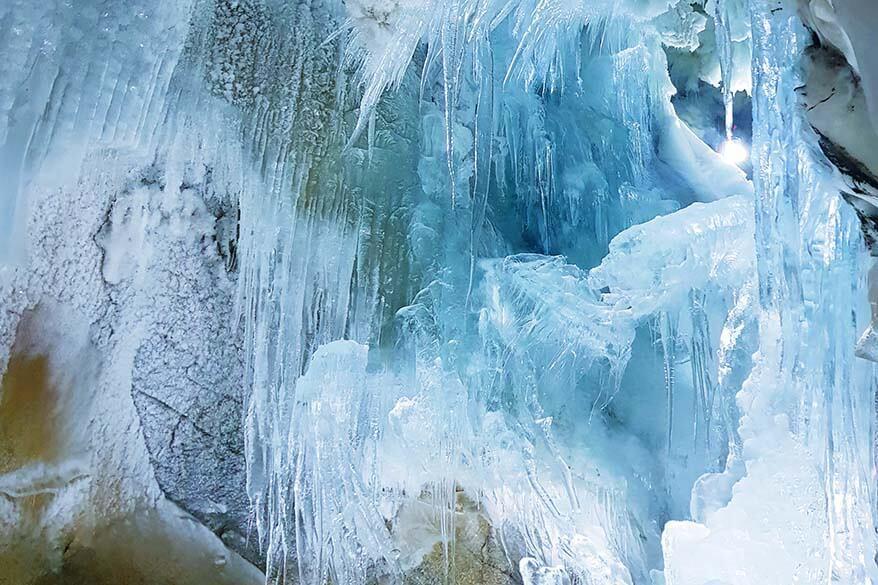 Nature's Ice Palace at Hintertux Glacier
