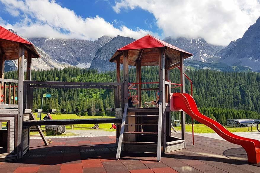 Playground at Ehrwalder Almbahn mountain station