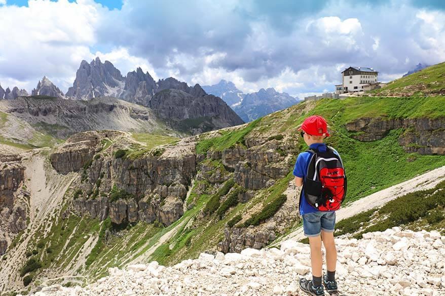 Rifugio Auronzo - the start of Tre Cime di Lavaredo hike