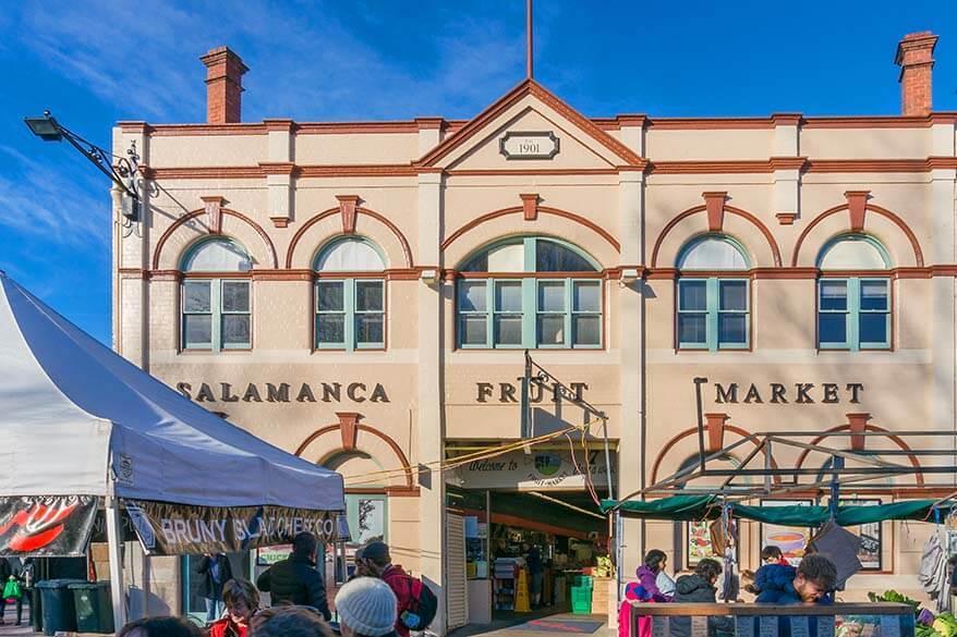 Salamanca Markets in Hobart Tasmania