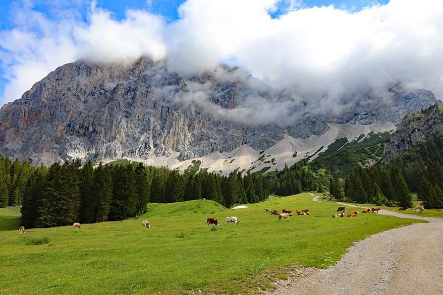 Scenery at Ehrwalder Almbahn mountain station