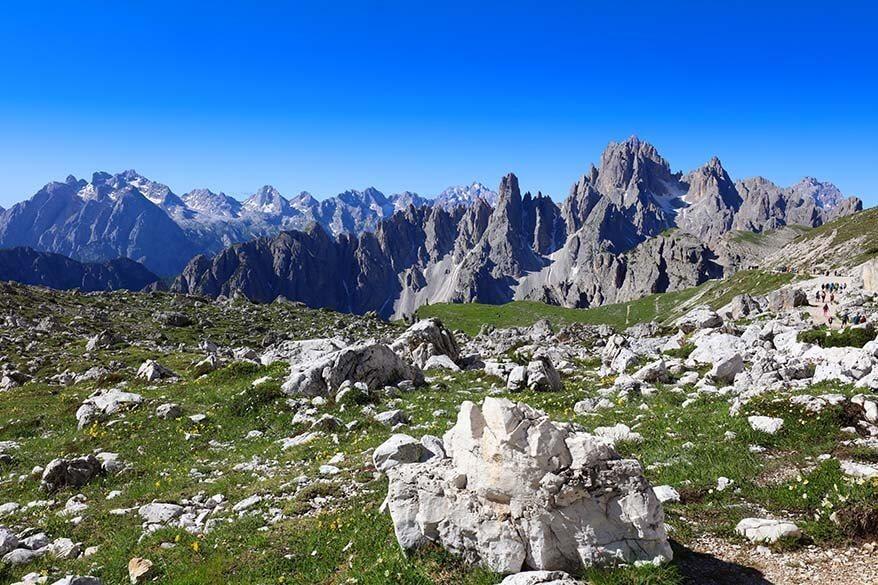 Scenery at the start of Tre Cime di Lavaredo hike