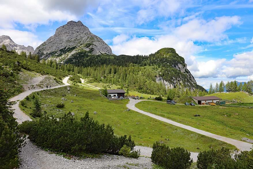 Seebenalm mountain hut in Ehrwald
