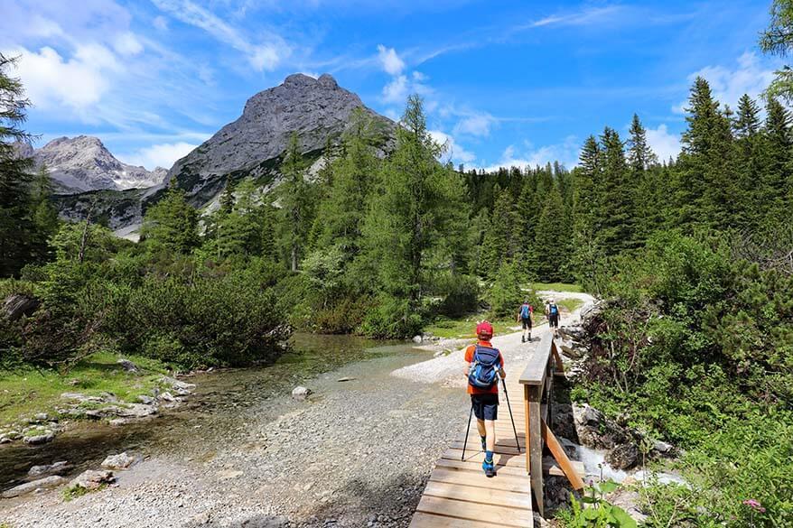 Seebensee hiking trail