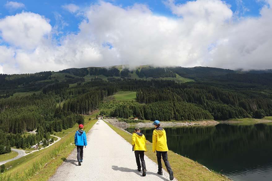 Speicher Durlaßboden lake in Tirol, Austria