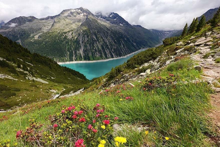 Summer landscape in Zillertal Austria