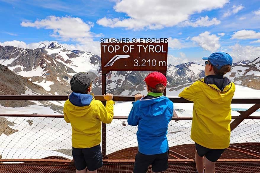 Top of Tyrol viewing platform at Stubai Glacier