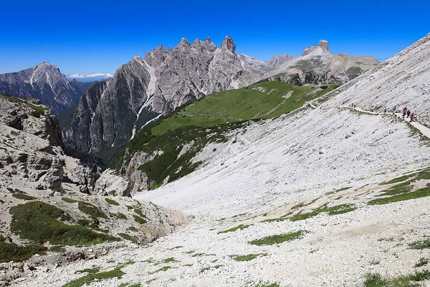Trail between Malga Langalm to Forcella del Col de Mezzo