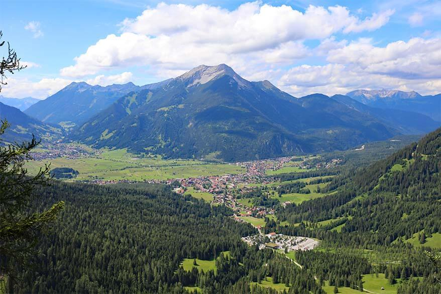 View at Seebental Blick viewpoint Ehrwald Austria
