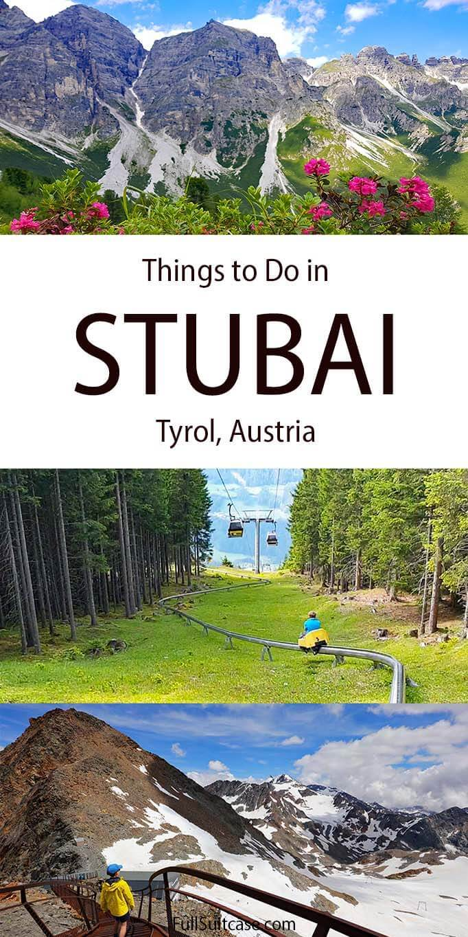 What to do in Stubai in summer