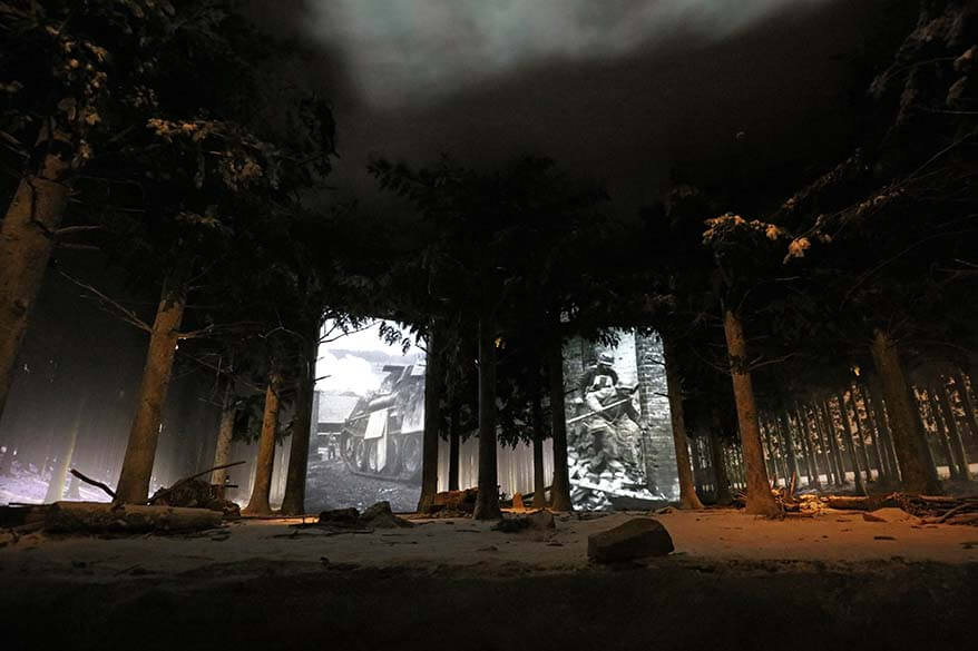 3D stage experience at the Bastogne War Museum