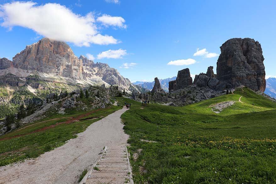 5 Torri in the Italian Dolomites