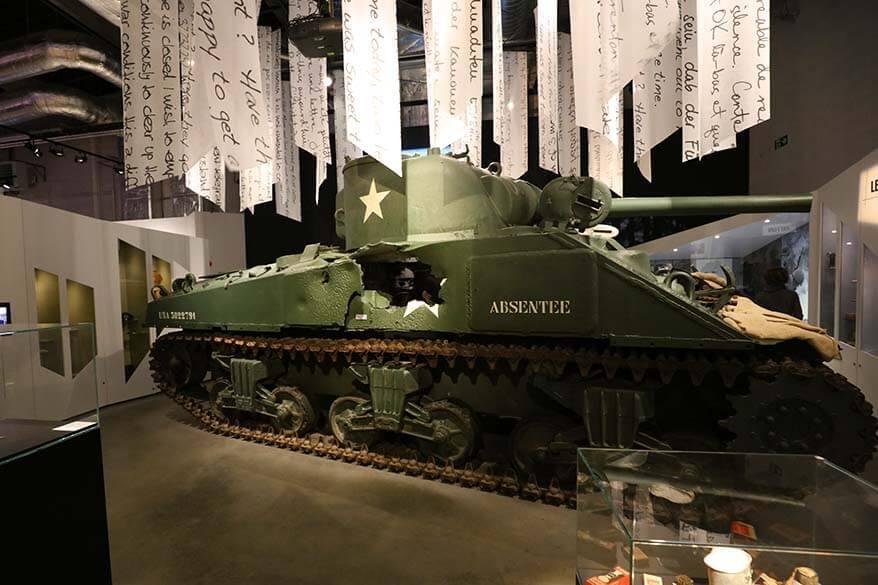 Absentee tank at the Bastogne War Museum in Belgium