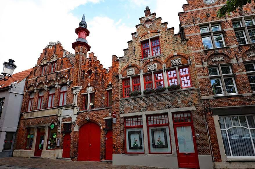 Beautiful buildings in Bruges Belgium