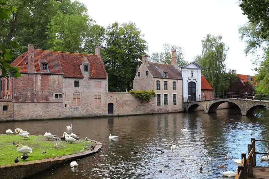 Bruges Beguinage as seen from Wijngaardplein