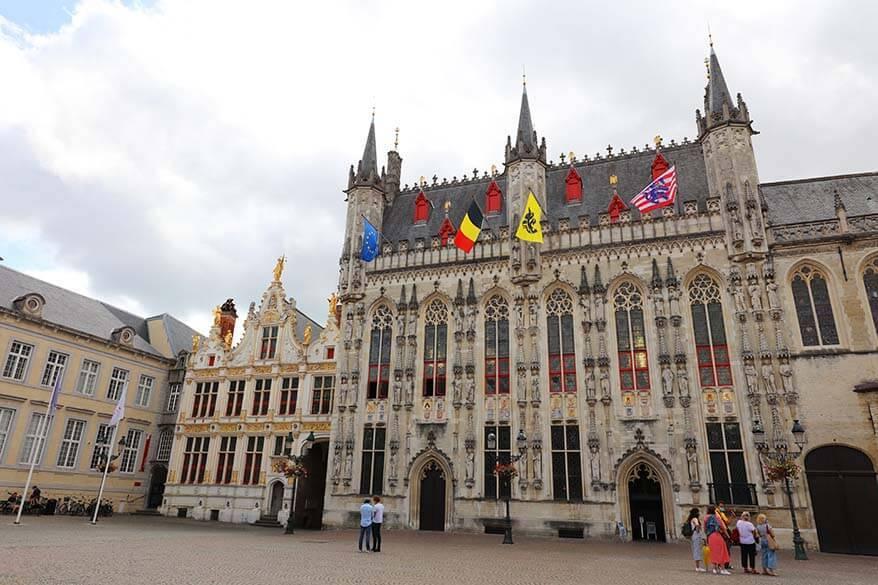 Bruges City Hall and Brugse Vrije on Burg Square