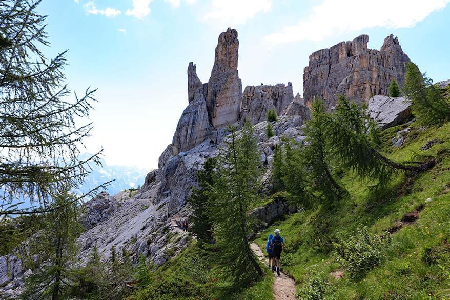 Cinque Torri hike