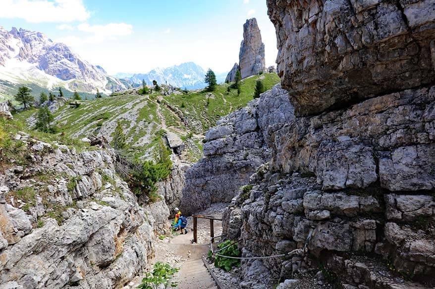 Cinque Torri loop hike in the Dolomites, Italy