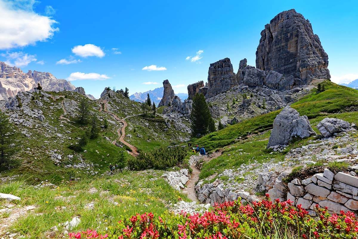 Hiking at Cinque Torri: Easy Hike with Best Views & WWI Sites
