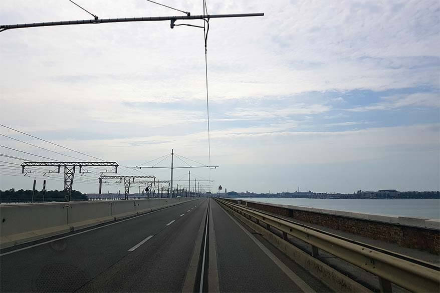 Driving to Venice via Ponte della Liberta