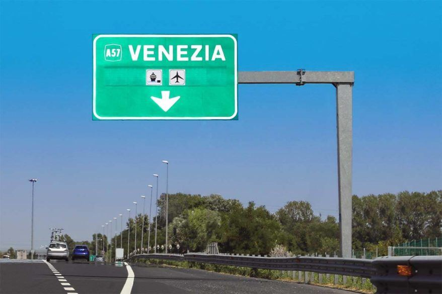 Driving to Venice by car