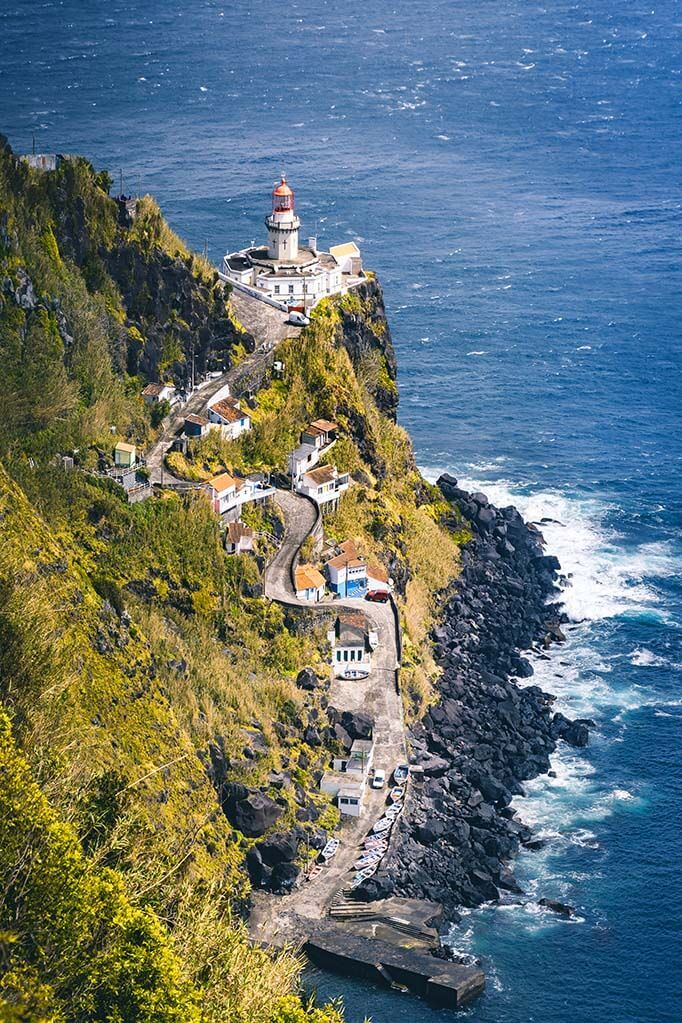 Farol do Arnel lighthouse - one of the best places to see in Sao Miguel, the Azores