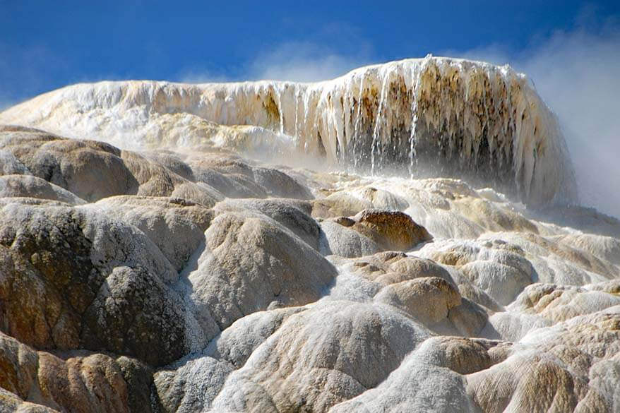 Geothermal Springs of Mammoth Hot Springs area in Yellowstone