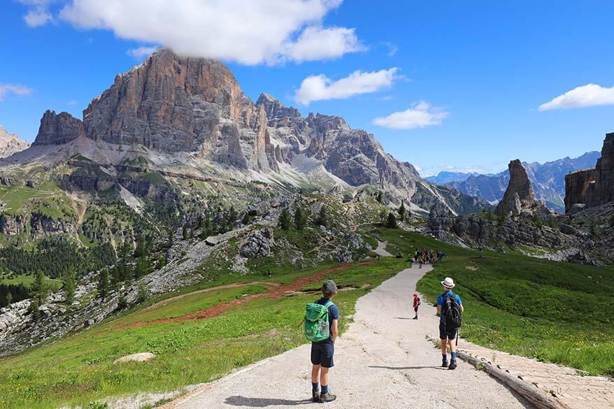 Hiking at Cinque Torri
