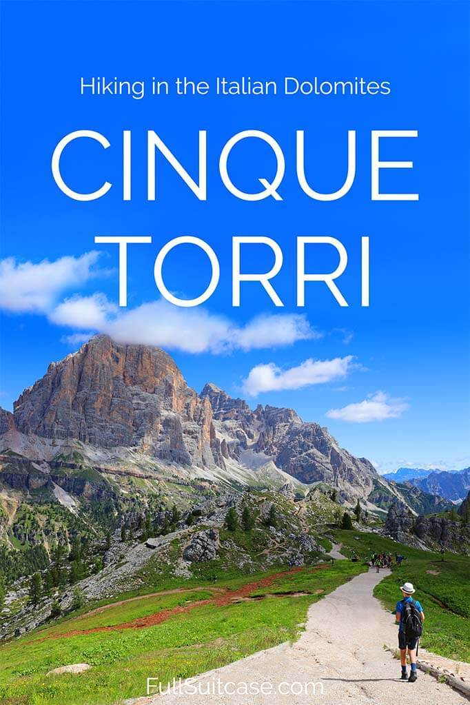 Hiking guide to Cinque Torri in the Dolomites, Italy