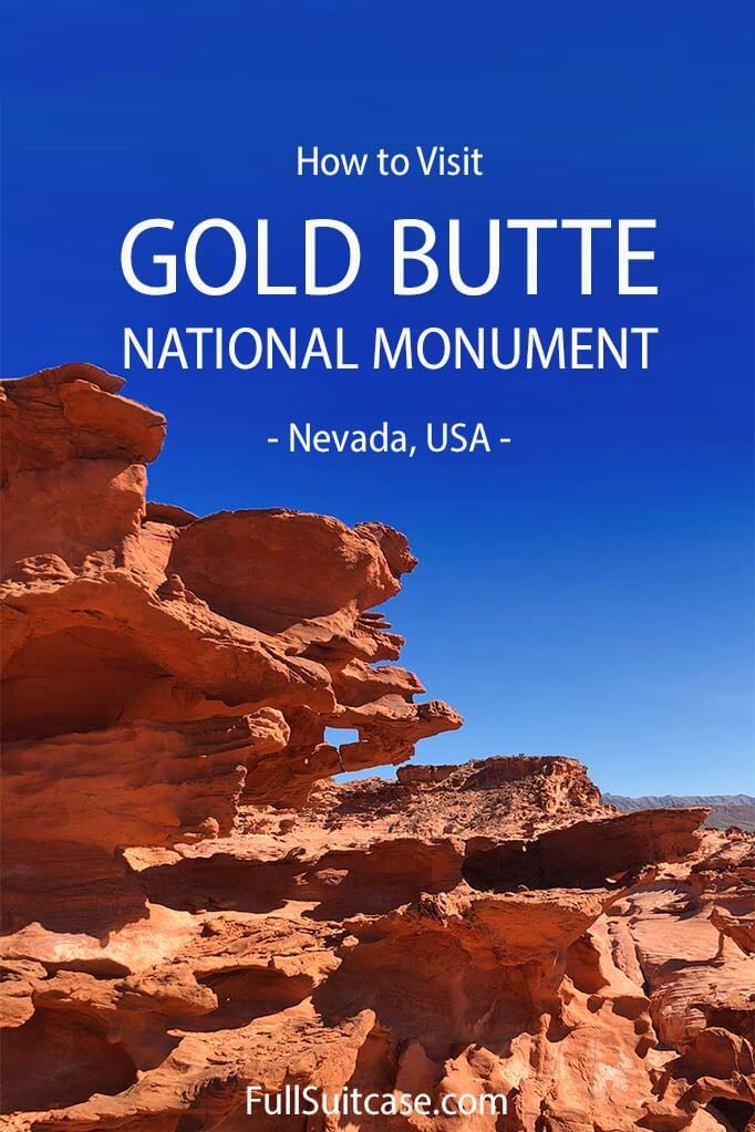 How to visit Gold Butte National Monument in Nevada USA