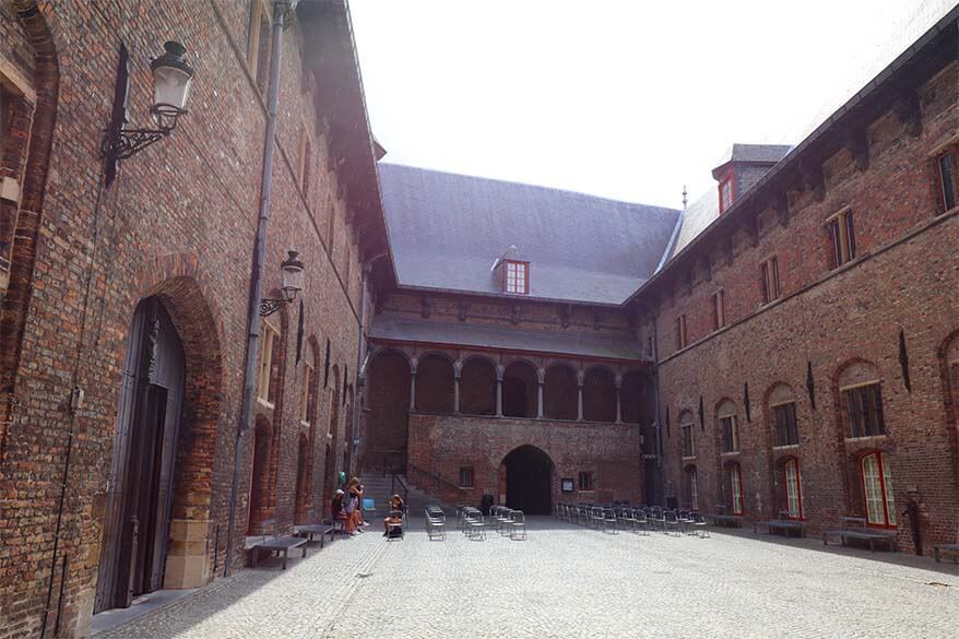 Inner courtyard of the Belfry of Bruges