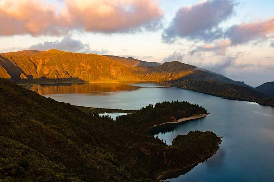 Lagoa do Fogo - one of the most beautiful lakes on Sao Miguel island in the Azores