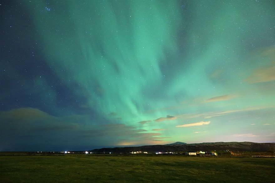 Level 2 aurora in Iceland